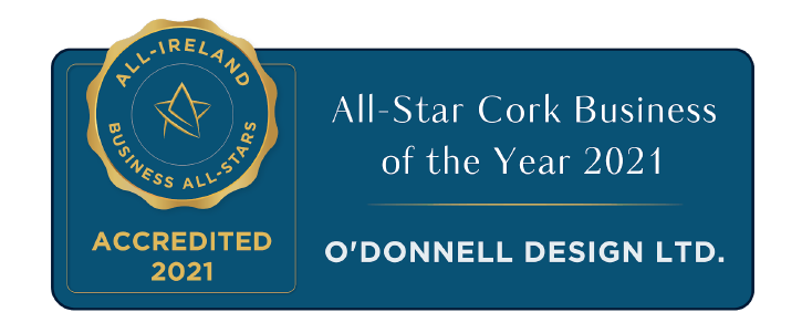 O'DONNELL DESIGN LTD ACCREDITED WITH ALL-STAR CORK BUSINESS OF THE YEAR 2021